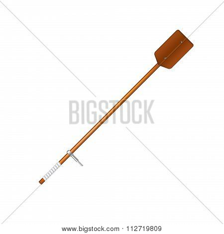 Old oar in brown design