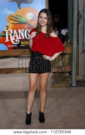 WESTWOOD, CALIFORNIA - February 14, 2011. Sammi Hanratty at the Los Angeles premiere of
