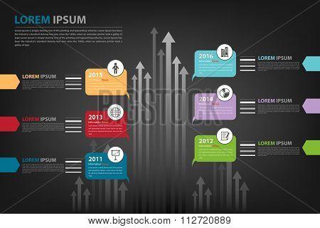 Milestone Timeline Infographic In Vector Eps10