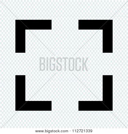 Focus Icon Sign Illustration