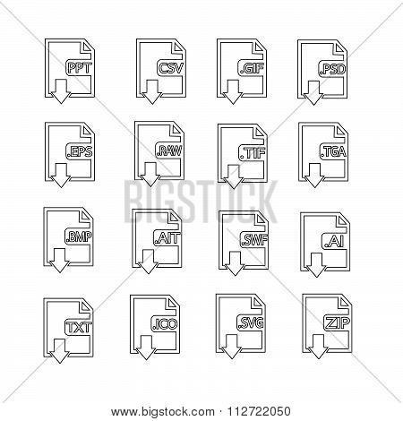 Files Format Icon Set