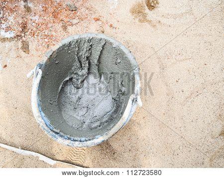 Wet Plaster Cement Concrete.