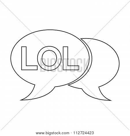 Internet Acronym Chat Bubble Illustration