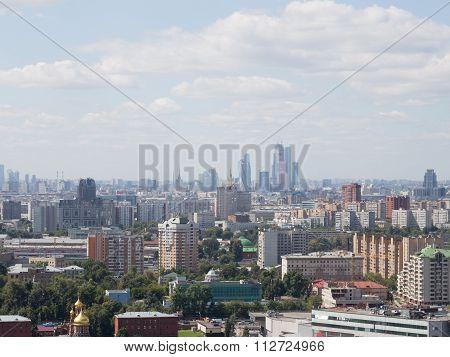 View Of Moscow City, Sokolniki District