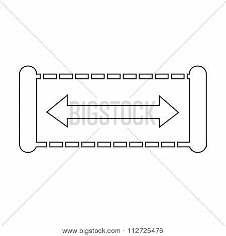 Width Icon Design Illustration