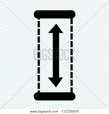 Height Icon Design Illustration