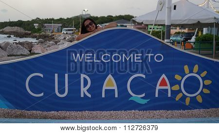 Welcome to Curacao sign in Willemstad