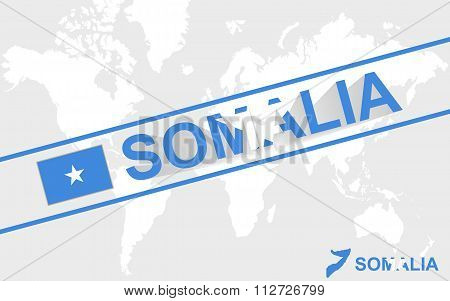 Somalia Map Flag And Text Illustration