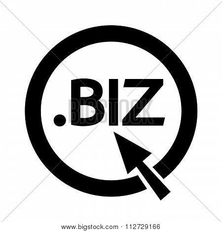 Domain Dot Biz Sign Icon Illustration