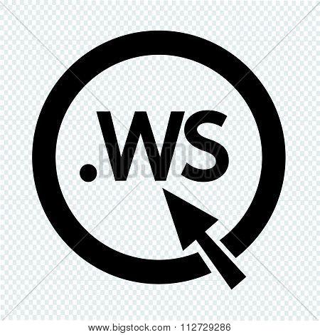 Domain Dot Ws Sign Icon Illustration