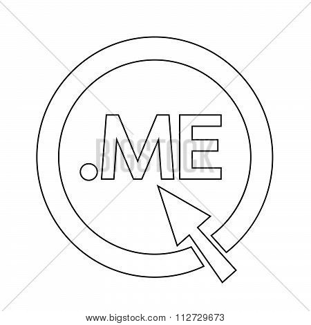 Domain Dot Me Sign Icon Illustration