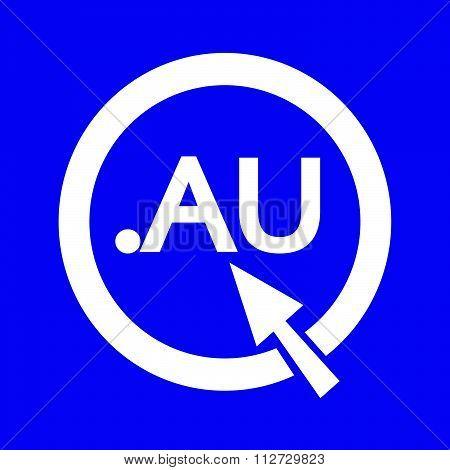 Australia Domain Dot Au Sign Icon Illustration