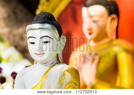 Buddha Image At  Ananda Temple In Old Bagan, Myanmar