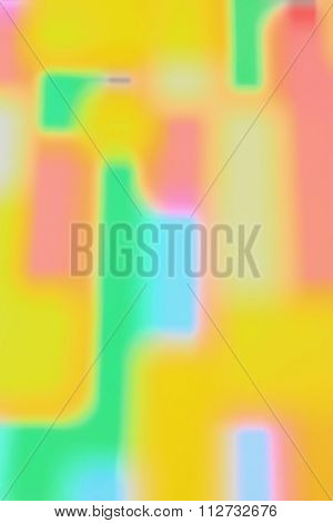 Bright and Colourful Abstract Block Pattern