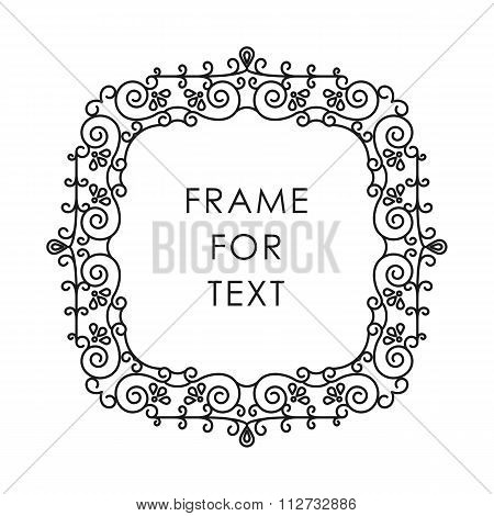 Frame In Modern Outline Style