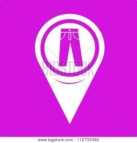 Map Pin Pointer Trousers Icon