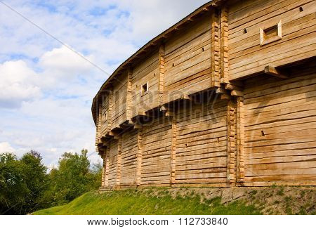 Old Fortress Wooden Wall