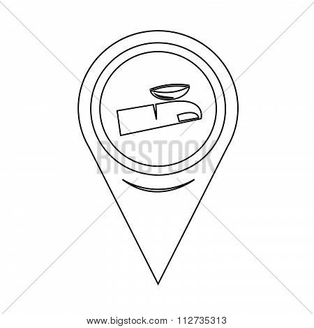 Map Pin Pointer Contact Lens Icon