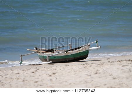 Dhow Canoe Or Boat In Mozambique