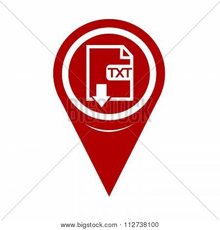 Map Pin Pointer File Type Txt Icon