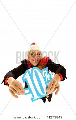 Santa Middle Aged Woman, Ten Percent Discount