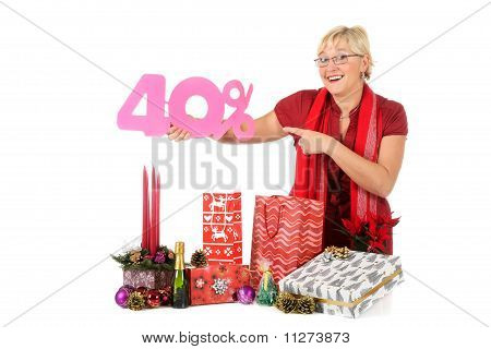 Caucasian Woman, Shopping Discount