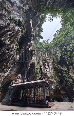Kuala Lumpur, Malaysia - Circa September 2015: Hindu Shrine In Ramayana Cave In Batu Caves Complex,