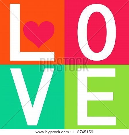 Love typography, t-shirt graphics