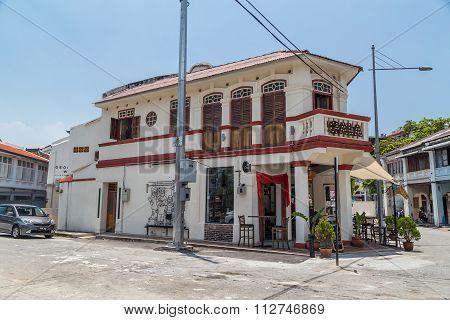 Georgetown, Penang/malaysia - Circa October 2015: Old Houses And Streets Of Georgetown, Penang,  Mal