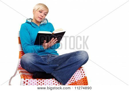 Cross-legged Reading