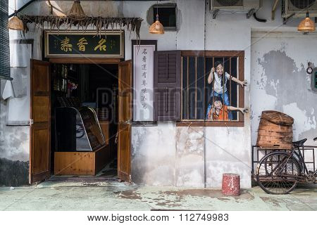 Georgetown, Penang/malaysia - Circa October 2015: Street Art And Graffiti Paintings On The Walls Of