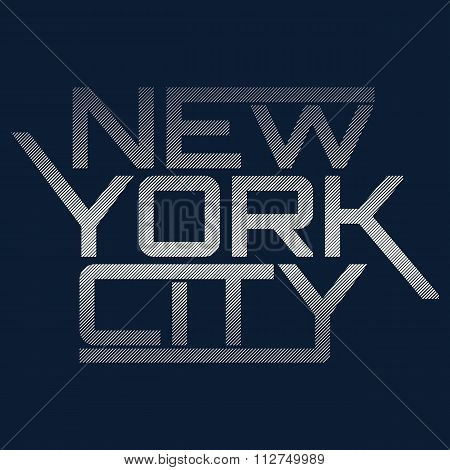 NYC typography, t-shirt graphics