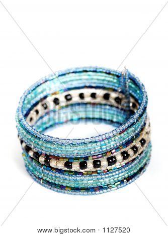 Blue Breaded Bracelet