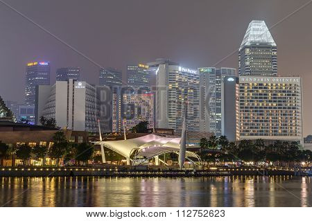 Singapore, Singapore - Circa September 2015: Esplanade – Theatres On The Bay,  Singapore