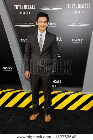LOS ANGELES, CALIFORNIA - August 1, 2012. John Cho at the Los Angeles premiere of