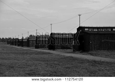 Majdanek Concentration Camp - Wood Barracks