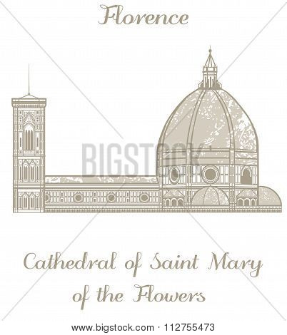 Vector Saint Mary Of The Flowers Cathedral