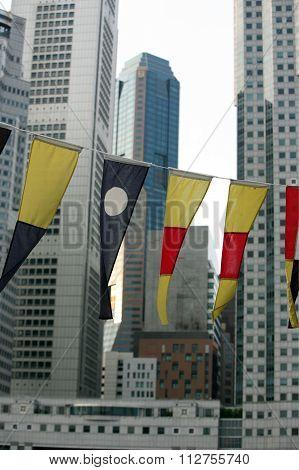 Asia Singapore City Down Town
