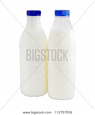 Two Plastic Containers With Dairy Produce On A Light Background