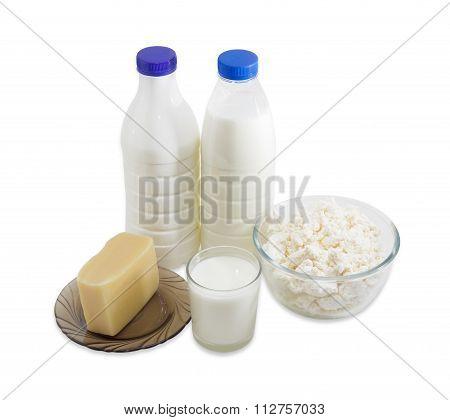 Dairy Produce On A Light Background