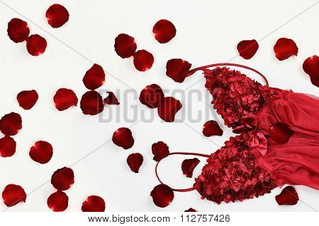 Lingerie And Rose Petals