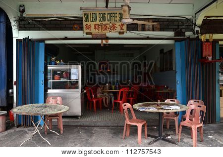 General View Of A Street-side Restaurant In Kuala Sepetang, Malaysia
