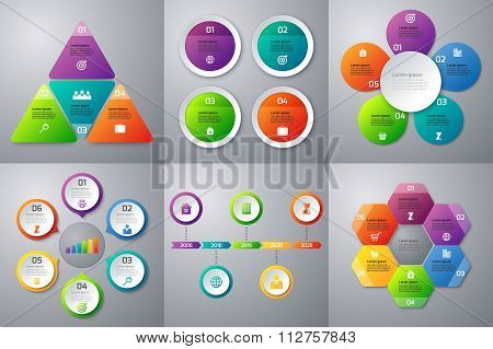 Stock Vector set of infographics