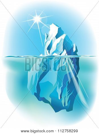 Iceberg vector Iceberg Under Water And Above Water