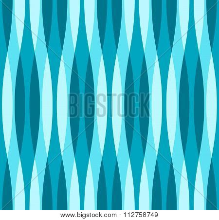 Turquoise Blue And White Wavy Background
