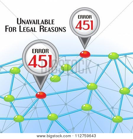 Error 451 Concept With Network And Pointers