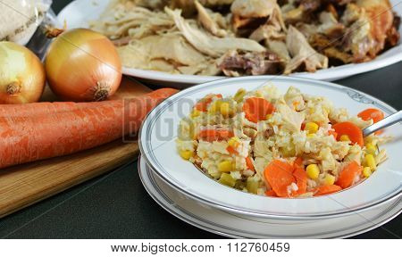 Turkey and Rice Stew from Leftovers