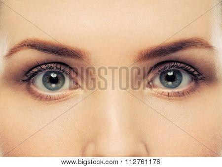 Woman's Open Eyes.