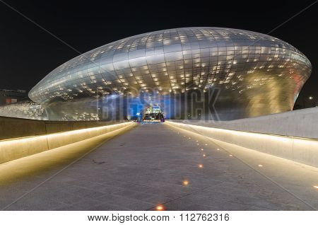 SEOUL SOUTH KOREA - March 29:Dongdaemun Design Plaza designed by the famous architect Zaha Hadid. on