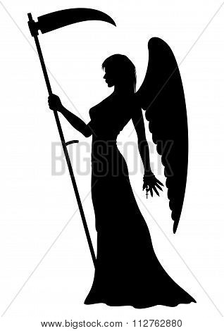 Angel Of Death Silhouette